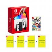 Nintendo Switch OLED White...