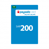 Saudi - Paysafe Card 200SAR...
