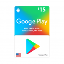 Google Play Card $15 - US -...