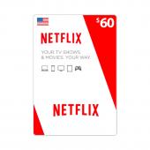 Netflix Card $60 - US -...