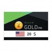 Razer Gold Pin 20$ USA