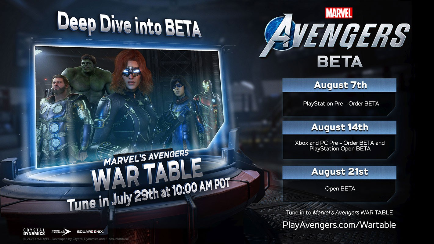 Marvel Avengers BETA PlayStation Pre